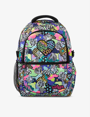 Smiggle Galaxy Attach animal-print woven backpack