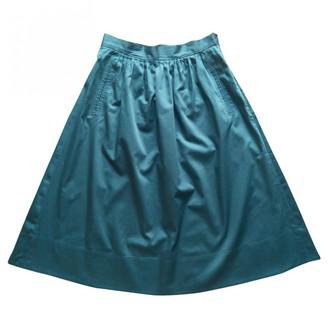 Comptoir des Cotonniers Green Cotton Skirt for Women