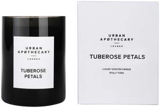 Tuberose Urban Apothecary London - Luxury Scented Candle - Black Glass Petals