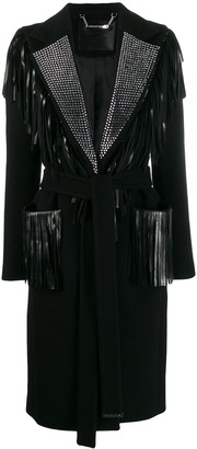 Philipp Plein Fringed Coat
