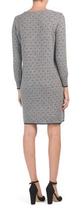 Made In Italy Polka Dot Intarsia Sweater Dress