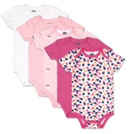 The Peanut Shell The Baby Girls Dots Ballet Slippers Short Sleeve Bodysuits