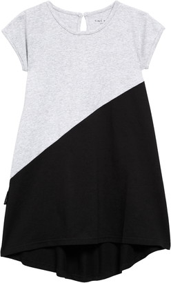 TINY TRIBE Diagonal Color Block Dress