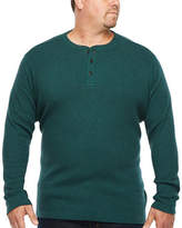 The Foundry Supply Co. The Foundry Big & Tall Supply Co.-Big and Tall Mens Long Sleeve Henley Shirt