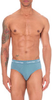 Calvin Klein Pack Of Three Stretch-cotton Briefs