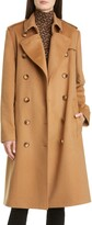 Burberry Kensington Cashmere Heritage Trench Coat