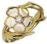 Shaun Leane Women's Diamond and Vermeil Ivory Enamel Yellow Gold Sterling Silver Single Cherry Blossom Ring - Size J
