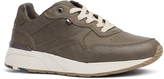 Tommy Hilfiger Olive Leather Tread Sneaker
