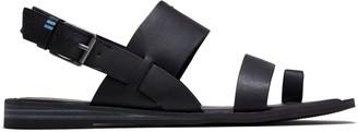 Toms Black Leather Freya Women's Sandals