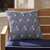 """Crate & Barrel Knots 20"""" Sq. Outdoor Pillow"""