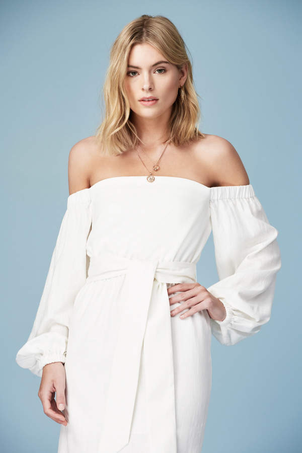 Finders Keepers INSTINCT LONG SLEEVE DRESS ivory