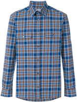 MSGM plaid long-sleeved shirt - men - Cotton - 39