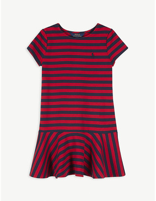 Ralph Lauren short-sleeved stretch-cotton dress 7-14 years