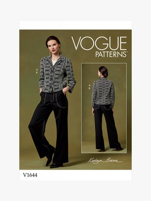 Vogue Women's Jacket and Flared Trousers Sewing Pattern, 1644