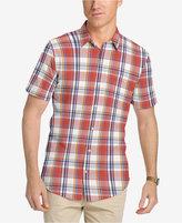Izod Men's Saltwater Dockside Checked Cotton Shirt