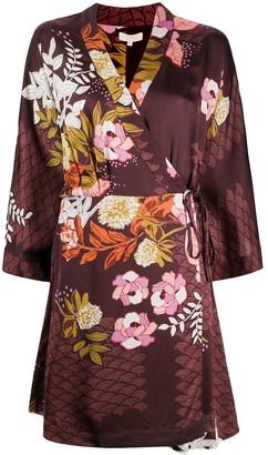 By Ti Mo Kimono Wrap Dress