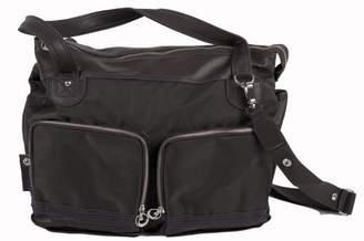 Little Company Pretty Purple pp13.26 Nappy Bag Tote Handbag, Colour: Dark Brown with Dark Brown Purple Seams (Purple)