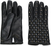 Valentino Garavani Valentino Rockstud gloves - women - Calf Leather/Metal (Other) - 7