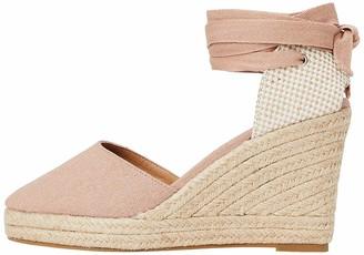 Find. Amazon Brand Wedge Close Toe Canvas Espadrille Sandals Black) 5 UK
