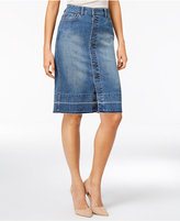Style&Co. Style & Co Petite Button-Front Denim Skirt, Only at Macy's