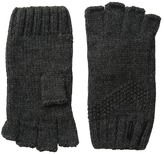 Calvin Klein Asymmetric Moss Stitch Fingerless Gloves