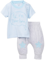 Rene Rofe Sweet Sayings New Here Top & Pant Set (Baby Boys)
