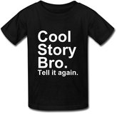 Bingo Kid's Cool Story Bro Tell It Again Cotton Teeshirt L