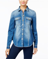 INC International Concepts Petite Denim Shirt, Only at Macy's