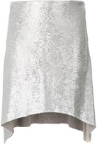 IRO metallic hi-low skirt