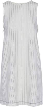 Alexander Wang Frayed Pinstriped Cotton-canvas Mini Dress