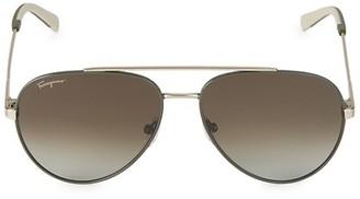 Salvatore Ferragamo Italian Lifestyle 52MM Aviator Sunglasses