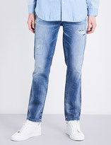 Calvin Klein Sculpted slim-fit mid-rise jeans