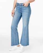 KUT from the Kloth Belle Mild Wash Cropped Flare-Leg Jeans