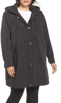 Via Spiga Plus Size Women's Hooded Packable Utility Coat
