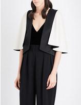 Lanvin Contrast-panel woven cape