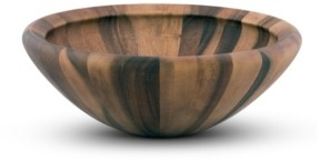 Arthur Court Acacia Wood Modern Bowl for Fruits or Salads