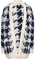 Sandro Houndstooth Knitted Cardigan