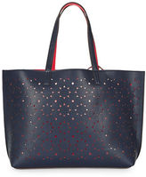 Echo ?Reversible Cutout Leather Tote