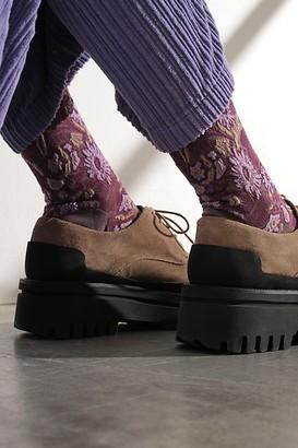 Anna Sui Larkspur Knee High Socks