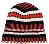 Tory Burch Striped Wool Beanie w/ Tags