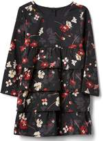 Gap Floral tiered ruffle dress