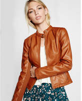 Express double peplum (Minus the) leather jacket
