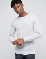 Esprit Textured Raglan Jumper With Jersey Sleeves