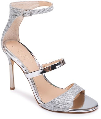 Badgley Mischka Rihanna Glitter Metallic Stiletto Sandal