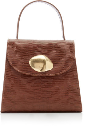 Little Liffner Little Lady Lizard-Effect Top Handle Bag