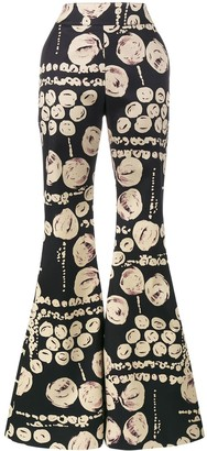 Beaufille cyrus printed flared trousers