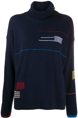 Paul Smith Square Stripe Knitted Jumper