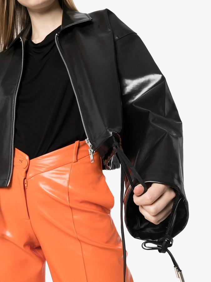 Thumbnail for your product : Supriya Lele Cropped Coated Jacket