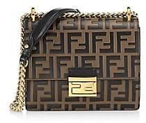 Fendi Women's Kan I FF Leather Shoulder Bag
