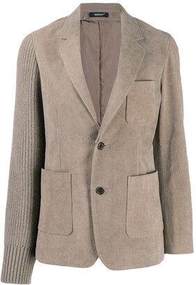 Undercover Corduroy And Knitted Blazer